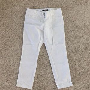 The Limited drew fit white capris